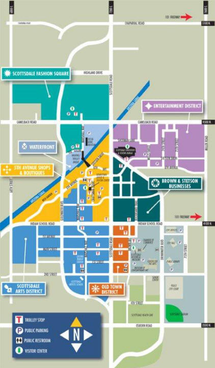 image gallery old town scottsdale map